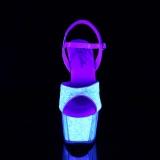 Glitter plateforme 18 cm ADORE-710UVG sandales talons hauts de pole dance