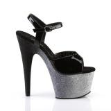 Gris 18 cm ADORE-709OMBRE etincelle sandales avec plateforme