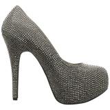 Gris Strass 14,5 cm Burlesque TEEZE-06RW pieds larges escarpins pour homme