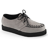 Gris Suede 2,5 cm CREEPER-602S Chaussures Creepers Hommes