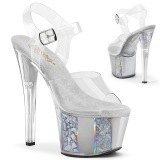Gris transparent 18 cm SKY-308OF chaussures de striptease