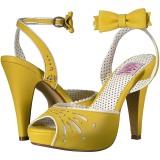 Jaune 11,5 cm Pinup BETTIE-01 sandales à talons aiguilles