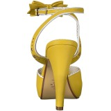 Jaune 11,5 cm Pinup retro vintage BETTIE-01 sandales à talons hauts