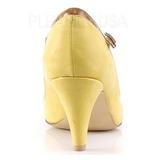 Jaune 8 cm PEACH-03 Pinup escarpins femmes à talons bas