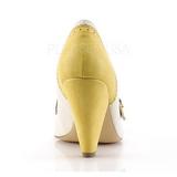 Jaune 9,5 cm POPPY-18 Pinup escarpins femmes à talons bas