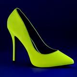 Jaune Neon 13 cm AMUSE-20 Escarpins Talon Aiguille Femmes