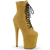 Jaune faux suede 20 cm FLAMINGO-1020FS bottines de pole dance