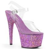 Lavande paillettes 18 cm Pleaser ADORE-708LG chaussure à talons de pole dance