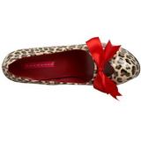 Leopard 14,5 cm Burlesque TEEZE-12 Chaussures pour femmes a talon