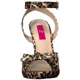 Leopard Satin 12,5 cm EVE-01 grande taille sandales femmes