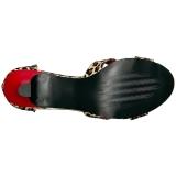 Leopard Similicuir 7,5 cm DIVINE-435 grande taille sandales femmes