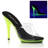 Limette Neon 13 cm POISE-501UV Plateforme Mules Chaussures