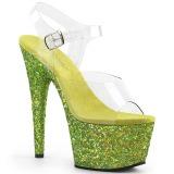 Limette paillettes 18 cm Pleaser ADORE-708LG chaussure à talons de pole dance