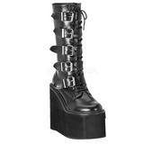 Mat 14 cm SWING-220 plateformes bottes à boucles pour femmes