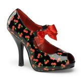 Motif Cerise Noir 12 cm CUTIEPIE-07 Escarpins Chaussures Femme