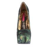 Motif Paon 14,5 cm Burlesque TEEZE-06-5 Plateforme Escarpins Haut Talon