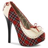Motif Plaid 14,5 cm Burlesque TEEZE-26 Chaussures pour femmes a talon