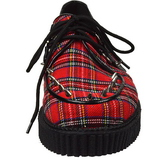 Motif Plaid 2,5 cm CREEPER-603 Chaussures Creepers Hommes
