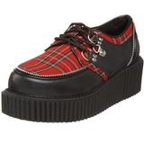 Motif Plaid 5 cm CREEPER-113 chaussures creepers femmes
