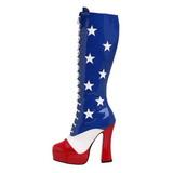 Motif USA 13 cm ELECTRA-2030 Bottes à Lacets Femmes