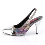 Motif serpent 10 cm DREAM-405 escarpins slingback chaussures travesti