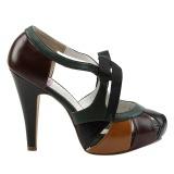Multicolore 11,5 cm retro vintage BETTIE-19 Chaussures pour femmes a talon