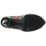 Multicolore 13 cm LOLITA-12 chaussures escarpins bout ouvert