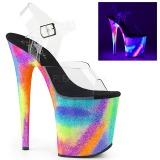 Multicolore 20 cm FLAMINGO-808GXY Plateforme Neon Sandales Femmes