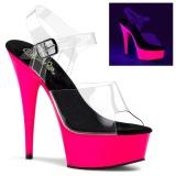 Neon 15 cm Pleaser DELIGHT-608UV chaussure à talons de pole dance