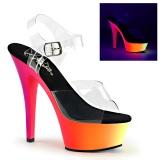 Neon 15 cm Pleaser RAINBOW-208UV chaussure à talons de pole dance