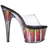 Neon 18 cm ADORE-701SRS Pierre strass plateforme mules femme