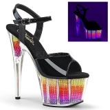 Neon 18 cm ADORE-709SRS Plateforme Strass Sandales Femmes