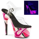 Neon 18 cm Pleaser ADORE-708UVR Plateforme Chaussures Talon Haut