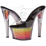 Neon 18 cm SKY-302SRS Pierre strass plateforme mules femme