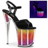 Neon 20 cm FLAMINGO-808SRS Plateforme Strass Sandales Femmes