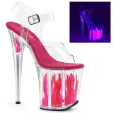 Neon 20 cm Pleaser FLAMINGO-808FLM chaussure à talons de pole dance