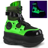 Neon 7,5 cm NEPTUNE-126 bottines demonia - bottines de cyberpunk unisex