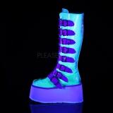 Neon 9 cm DAMNED-318 plateformes bottes à boucles pour femmes