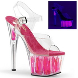 Neon Rose 17 cm Pleaser ADORE-708FLM Talons Hauts Plateforme