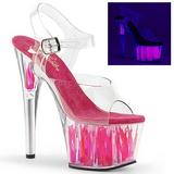 Neon Rose 18 cm Pleaser ADORE-708FLM Talons Hauts Plateforme