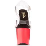 Neon Rose 18 cm Pleaser TABOO-708UV Talons Hauts Plateforme