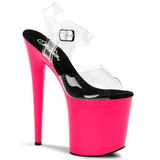 Neon Rose 20 cm Pleaser FLAMINGO-808UV Talons Hauts Plateforme
