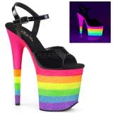 Neon arc en ciel 20 cm FLAMINGO-809UVRB chaussures de pole dance