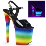 Neon arc en ciel 20 cm FLAMINGO-809WR chaussures de pole dance
