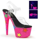 Neon paillettes 18 cm Pleaser ADORE-708STR chaussure à talons de pole dance