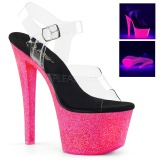 Neon paillettes 18 cm Pleaser SKY-308UVG chaussure à talons de pole dance