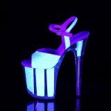 Neon paillettes 20 cm FLAMINGO-810UVG chaussure à talons de pole dance