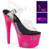 Neon pierre strass 18 cm ADORE-708STAR chaussure à talons de pole dance