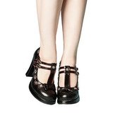 Noir 10,5 cm CRYPTO-06 Mary Jane Escarpins Chaussures