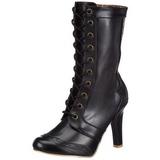 Noir 10,5 cm TESLA-102 bottines femmes à lacets